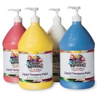 Color Splash!® Liquid Tempera Paint - Set A, Gallon (Set of 4)