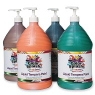 Color Splash!® Liquid Tempera Paint  - Set B, Gallon (Set of 4)