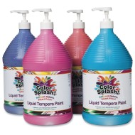Color Splash!® Liquid Tempera Paint - Set C, Gallon (Pack of 4)