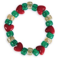 Holiday Sparkle Bracelet Craft Kit (Pack of 12)