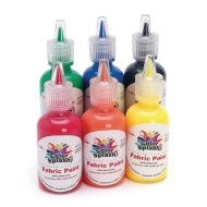 Color Splash!® Fabric Paint Primary, 1 oz. (Pack of 6)