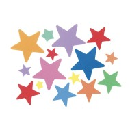 Bucket of Star Foam Stickers (Pack of 320)