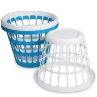 Sterilite® Round Plastic One-Bushel Capacity Laundry Basket Pack (Pack of 6)