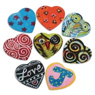 Heartfelt Magnets Craft Kit (Pack of 36)