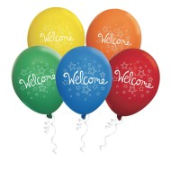 "Latex Welcome Balloon Pack, 11"" (Pack of 50)"