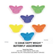 Happy Weight™ 15-Gram Butterfly Balloon Weights  (Pack of 50)