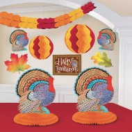 Colors of Autumn Thanksgiving Party Room Decorating Kit