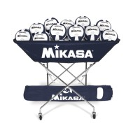 Mikasa® Hammock-Style Volleyball Ball Cart, Black