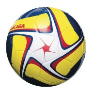 Mikasa® SCE Competition Play Soccer Ball, White/Yellow/Navy