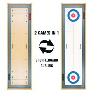 Shuffleboard and Curling 2 in 1 Wooden Tabletop Game