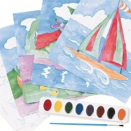 Watercolor Paint-By-Numbers Craft Kit (Pack of 36)
