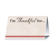 I'm Thankful For Harvest Seating Place Card (Pack of 12)