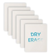Plastic Dry Erase Boards (Set of 6)