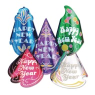 New Year's Glitter Hats (Pack of 50)