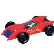 Rubber Band Race Cars Craft Kit (Pack of 12)