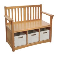 Storage Bench with Bins