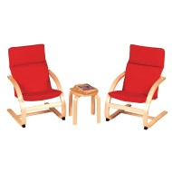 Red Cushion Rocker