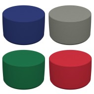 "Softzone® 18"" Round Ottoman, Junior Height"