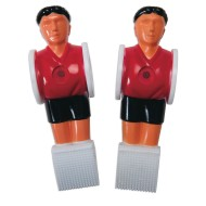 Replacement Men for Soccer Table, Red/Black