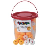 Spectrum™ Bucket O' Table Tennis Balls (Bucket of 60)