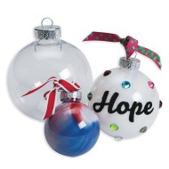 Clear Top-Fill Ornaments, Small, Small