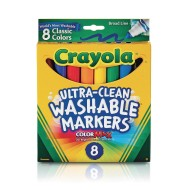 Crayola® Washable Markers (Box of 8)