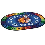 Sunny Day Learn & Play Oval Carpet 8'3x11'8