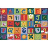 Toddler Alphabet Blocks Rug,