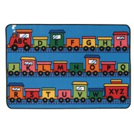 Alphabet Train Kids Value Rug