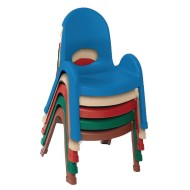 "Children's Factory® 7"" Value Stack™ Chairs, Solid Colors (Pack of 4)"