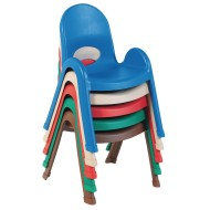 "Children's Factory® Value Stack™ Chairs, Solid Colors, 11"" (Pack of 4)"