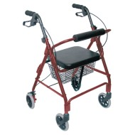 HealthSmart Ultra Lightweight Rollator with Straight Backrest,