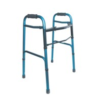DMI Aluminum Folding Walker, Rubber Tip,