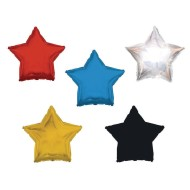 Mylar Star Balloons,  (Pack of 10)