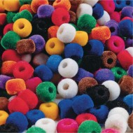 Color Splash!® Pony Bead Assortment, Fuzzy