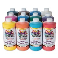 Color Splash!® Liquid Tempera Paint Assortment, 32 oz. (Pack of 12)