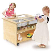 Whitney Brothers® Mobile Sensory Table with Trays & Lids