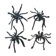 Black Spider Rings (Pack of 36)
