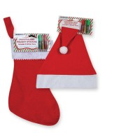 Stocking/Hat with Glitter Pens (Pack of 12)
