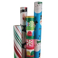 Best Value Assorted Christmas Gift Wrap (Pack of 4)