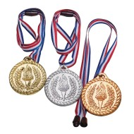 Olympic Style Award Medals with Breakaway Closure (Pack of 12)