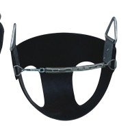 Black Bucket Seat with Safety Chain