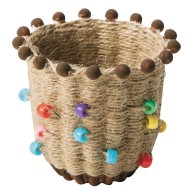 Ancient Culture Jute Basket Craft Kit (Pack of 24)