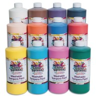 Color Splash!® Washable Tempera Paint Assortment, 16 oz. (Set of 12)