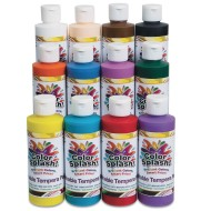 Color Splash!® Washable Tempera Paint, 8 oz. (Pack of 12)
