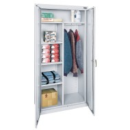 Storage Cabinet with Garment Rod,