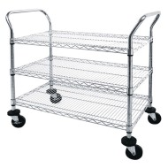 Mobile Chrome Wire Cart