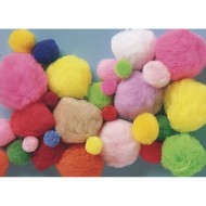 Color Splash!® Mixed Pom Pom Assortment, 1 lb