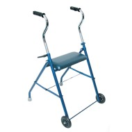 DMI Steel Walker with Wheels and Seat, Royal Blue