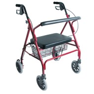 DMI XW HD Steel Bariatric Rollator, Burgundy